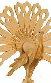 3 d puslespil træ håndværk påfugle