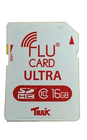 FluCard PRO SD Memory Card  Wi-Fi for Camera - White (16GB  Class 10)