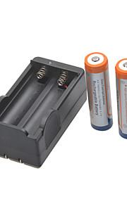 glare zaklamp batterijen oplader voor 18650 oplaadbare Li-ion batterij (inbegrepen 2x1800mah 3,7 V)