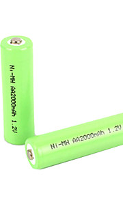 Ni-MH - Aa - Batterij - 2000mAh - ( mAh ) - 2 - pcs