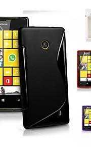 kemile s de TPU suave gel de la piel del caucho flexible de la contraportada para Nokia Lumia 520 (colores surtidos)