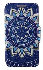 kinston® motif de porcelaine bleue et blanche cuir PU couverture complète du corps avec support pour HTC Desire yeux / M910