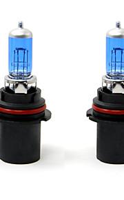 TIROL 2pcs Auto Headlight Bulbs Headlamp Bulbs Halogen 9004 12V 45/65W Super White 5000K