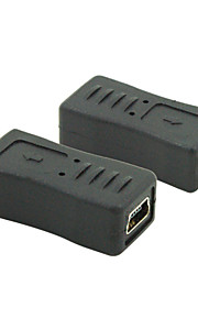 micro usb 2.0 male naar mini-usb 2.0-female connector converter adapter