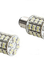 2PCS 1157 4W 60x3528 SMD White Light LED Bulb for Car Brake Lamp (DC 12V)