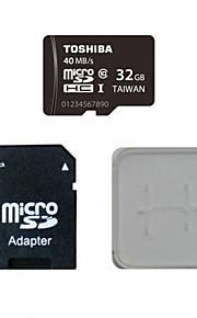 Toshiba 32gb class10 40m / s cartão de memória eo cartão de memória e caixa de adaptador do cartão de memória