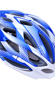 Unisex Fashion and High-Breathability PC + EPP Bicycle Helmet With Detachable Sunvisor(24 Vents) - Blue + Silver