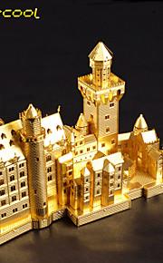 neuschwanstein brinquedo quebra-cabeça 3D estéreo de montagem de metal enigma modelo prédio filhos adultos