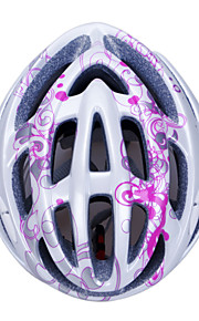 Unisex Fashion and High-Breathability PC + EPP Bicycle Helmet (20 Vents) - Silver + Rose Red