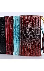 5.5 tommers krokodille skinn lommebok universal for iphone6 pluss / iphone6 / 5 / 5s / 4 / 4s (assorterte farger)