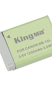 Kingma nb-13L udskiftning 3.6V 1250mAh li-ion batteri til Canon PowerShot g7 x - grå + grøn