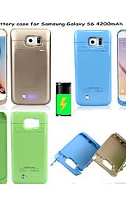 4200mAh Cassa di batteria di sostegno portatile esterno per la galassia S6 (colori assortiti)