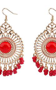 Dråbeøreringe Smykker Personaliseret Euro-Amerikansk Mode Rhinsten Legering Smykker Smykker For Bryllup Speciel Lejlighed 1 Par