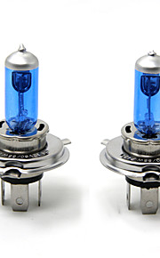 TIROL 2pcs Auto Headlight Bulbs Headlamp Bulbs Halogen H4 12V 60/55W Super White 5000K