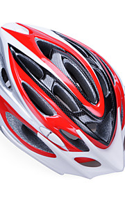 Unisex Fashion and High-Breathability PC + EPP Bicycle Helmet With Detachable Sunvisor(20 Vents) - Red + Silver