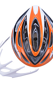 Unisex Fashion and High-Breathability PC + EPP Bicycle Helmet With Detachable Sunvisor(20 Vents) - Orange + Silver