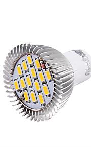 7W GU10 LED-spotpærer MR16 15 SMD 5630 700 lm Varm hvit / Kjølig hvit Dekorativ AC 85-265 / AC 220-240 / AC 100-240 V 1 stk.