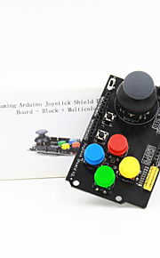 Gaming Arduino Joystick Shield Expansion Board - Black + Multicolored