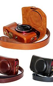 dengpin pu de couro da câmera caso saco de cobrir com alça de ombro para Canon PowerShot SX700 HS sx710 hs (cores sortidas)