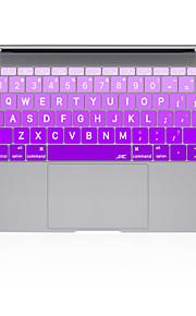 """cambiamento graduale copertura della tastiera del silicone grande Colore lettera per macbook 13 """"15"""" 17 """""""