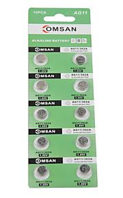 comsan AG11 / 362 / LR / sr721sw / 162 hoge capaciteit knop batterijen (10st)