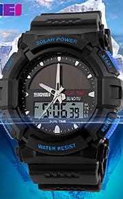 skmei® relógio desportivo energia solar zonas dos homens calendário / cronógrafo / dual tempo analógico-digital / alarme pulseira de