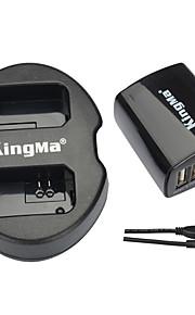 Kingma dual usb oplader + væg usb oplader til Sony NP-FW50 og Sony Alpha 7, a7, 7s, a6000, NEX-3n, NEX-5n, SLT-A33