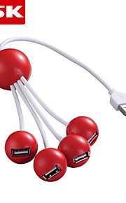 ssk® usb 2.0 4-port med høj hastighed USB-hub usb 2.0-hub