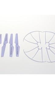 4pcs x5C-02 hélice, pá + 4pcs x5C-03 lâmina de proteção quadro peças sobressalentes para syma x5C rc helicóptero Quadrotor zangão.