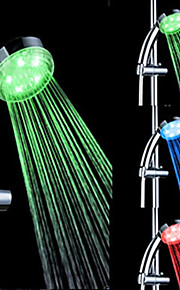 3-farge abs temperatur påvisbar LED farge skiftende hånddusj