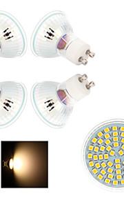 5 stk. Ding Yao GU10 4 W 60 SMD 3528 200-300 LM 2800-3500/6000-6500 K Varm hvit/Kjølig hvit Spotlys AC 220-240 V