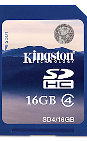 Ægte Kingston 16GB SDHC-SD-hukommelseskort (klasse 4)