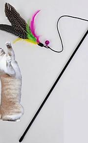 Brinquedo Para Gato Brinquedos para Animais Brinquedo de Provocação Brinquedo com Penas Pássaro Marrom Téxtil