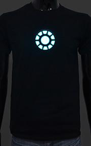 genopladeligt batteri inkluderet lyser førte el t-shirt iron man 1 justerbar lyd aktiveret og flere flash-indstillinger