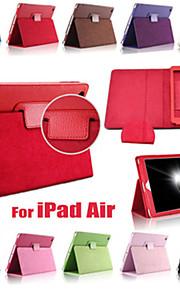 enfärgade pu läder auto Sleep / Wake up hela kroppen fodral med ställ för iPad luft (blandade färger)