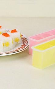 fabricante de triângulo sushi onigiri bolo de arroz de imprensa definir sushi diy molde bento (cor aleatória)