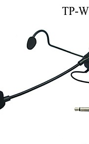"Top Quality Cardioid Condenser Headworn Headset Microphone with Flexible Wired Boom 1/8""(3.5mm) Plug"