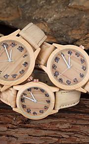 familiy definir pai-filho relógio ocasional design de madeira khaki cinta pu relógio de pulso