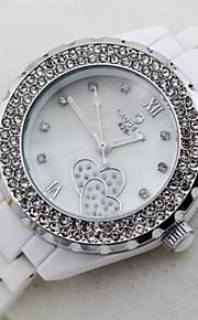 kvinders keramiske vandtæt quartz ur (assorterede farver)