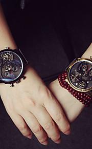 couro versátil alto grau três esportes ao ar livre relógio relógio de pulso do casal de mulheres