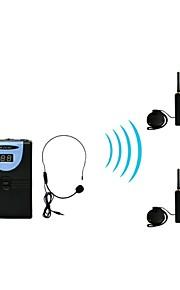 2,4 g digital trådløs tour guide / oversættelse (1 sender og 2 modtagere)