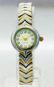 kvinders analog kobber tilfælde runde dial kobber band japan kvarts ur kvinder mode ur gave ur dameur