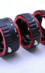 rød metal autofokus AF makro forlængerrør / ring til Canon 5d 5d2 eos EF-S-objektiv
