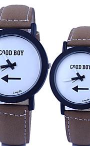 quartzo circular relógio cinto de moda do casal