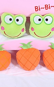 Squeaking Frog-shaped /Pineapple-shaped Plush Toys for Pets Dogs (Assorted Colours)