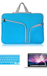 3 em 1 saco de corpo inteiro com flim teclado e protetor de tela MackBook Pro 15 '' com retina (cores sortidas)