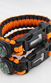 Compass Fire Starter Paracord Bracelet