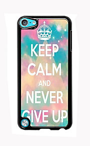 Keep Calm and Never Give Up Design Aluminum High Quality Case for iPod Touch 5