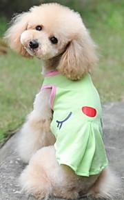 그린/핑크 - 웨딩/코스프레 - 면 - 티셔츠 - 개/고양이