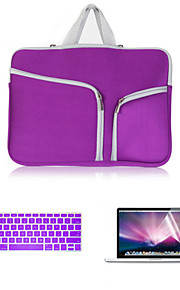 """business 3 em 1 manga de corpo inteiro com flim teclado e protetor de tela hd para MacBook Air de 11,6 """"(cores sortidas)"""